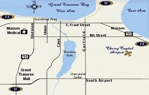 Map of Traverse City